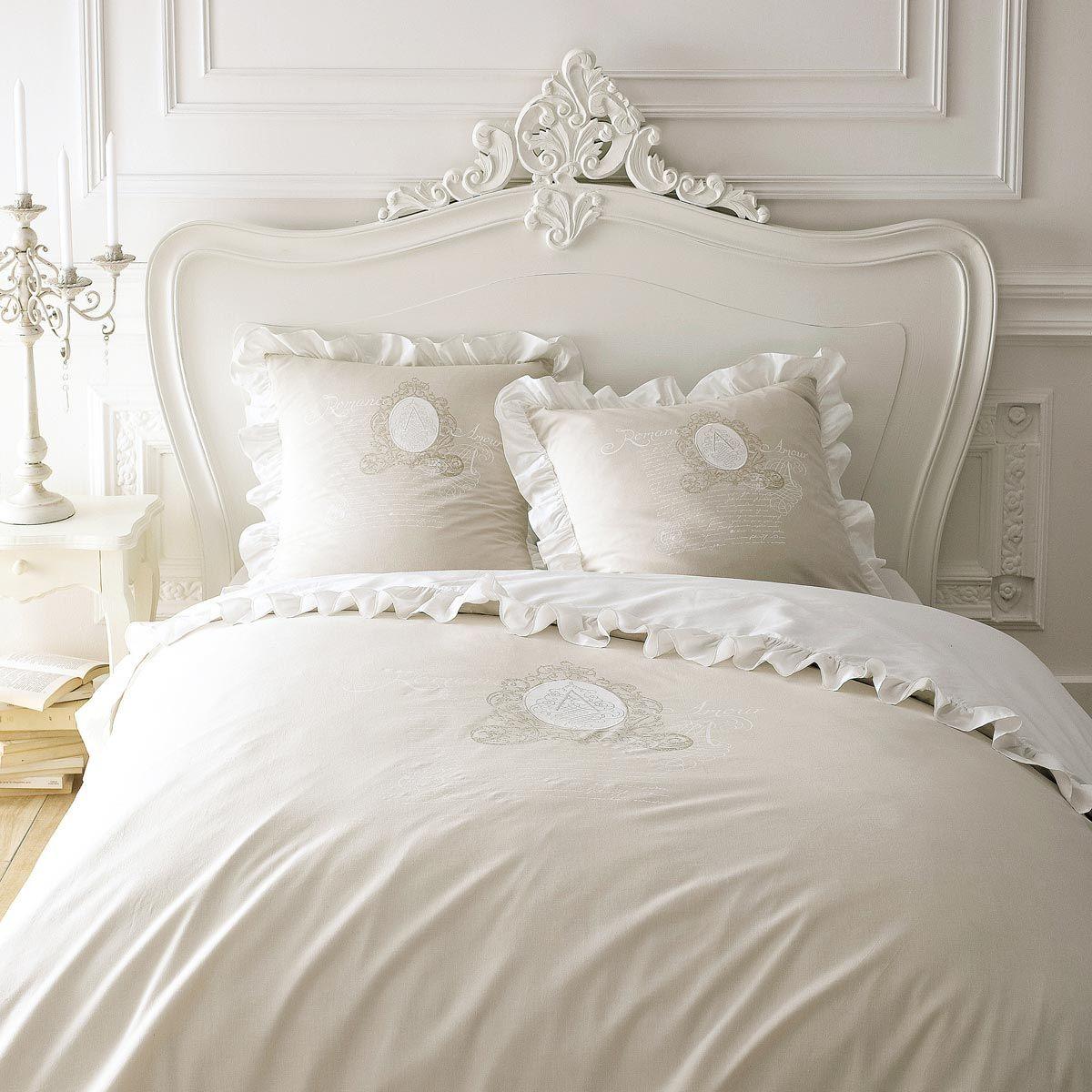 Tête de lit blanche L160 | Parure housse de couette, Oreiller et ...