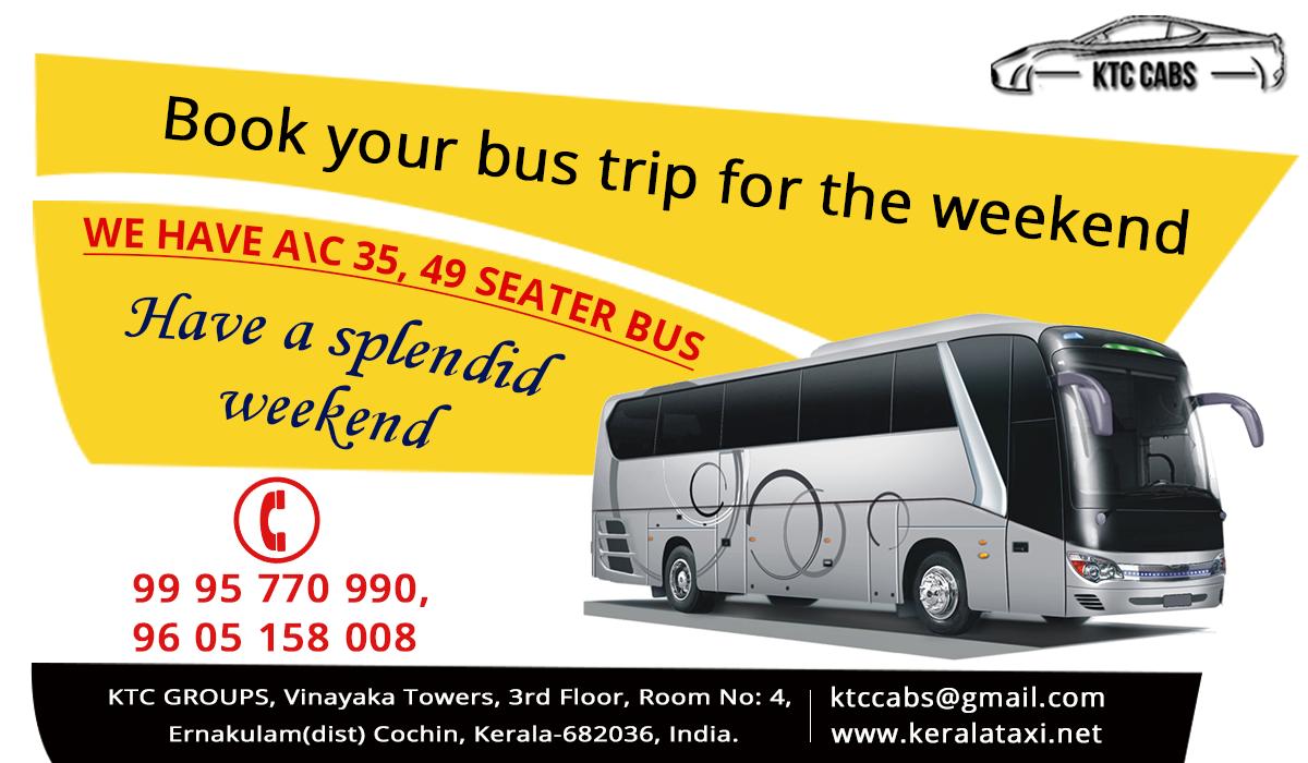 Kerala Tourist Taxi Packages Bus Travel Trip Tourist