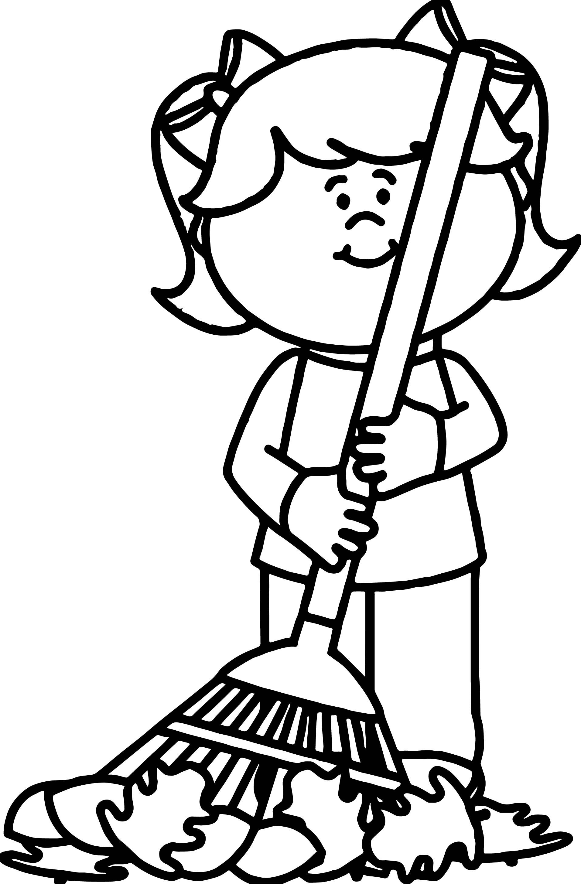 Awesome Autumn Girl Coloring Page