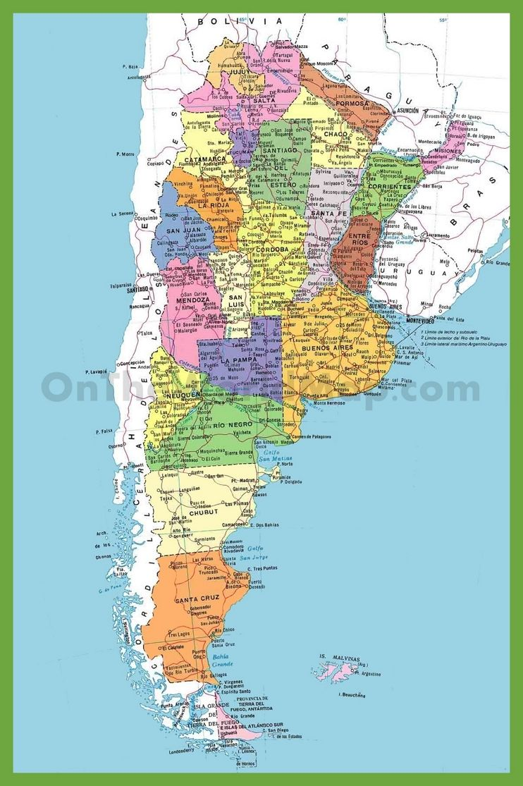 Detailed map of argentina with cities maps pinterest argentina detailed map of argentina with cities gumiabroncs Image collections