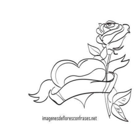 Imagenes De Corazones Con Flores Para Colorear Imagenes De Flores