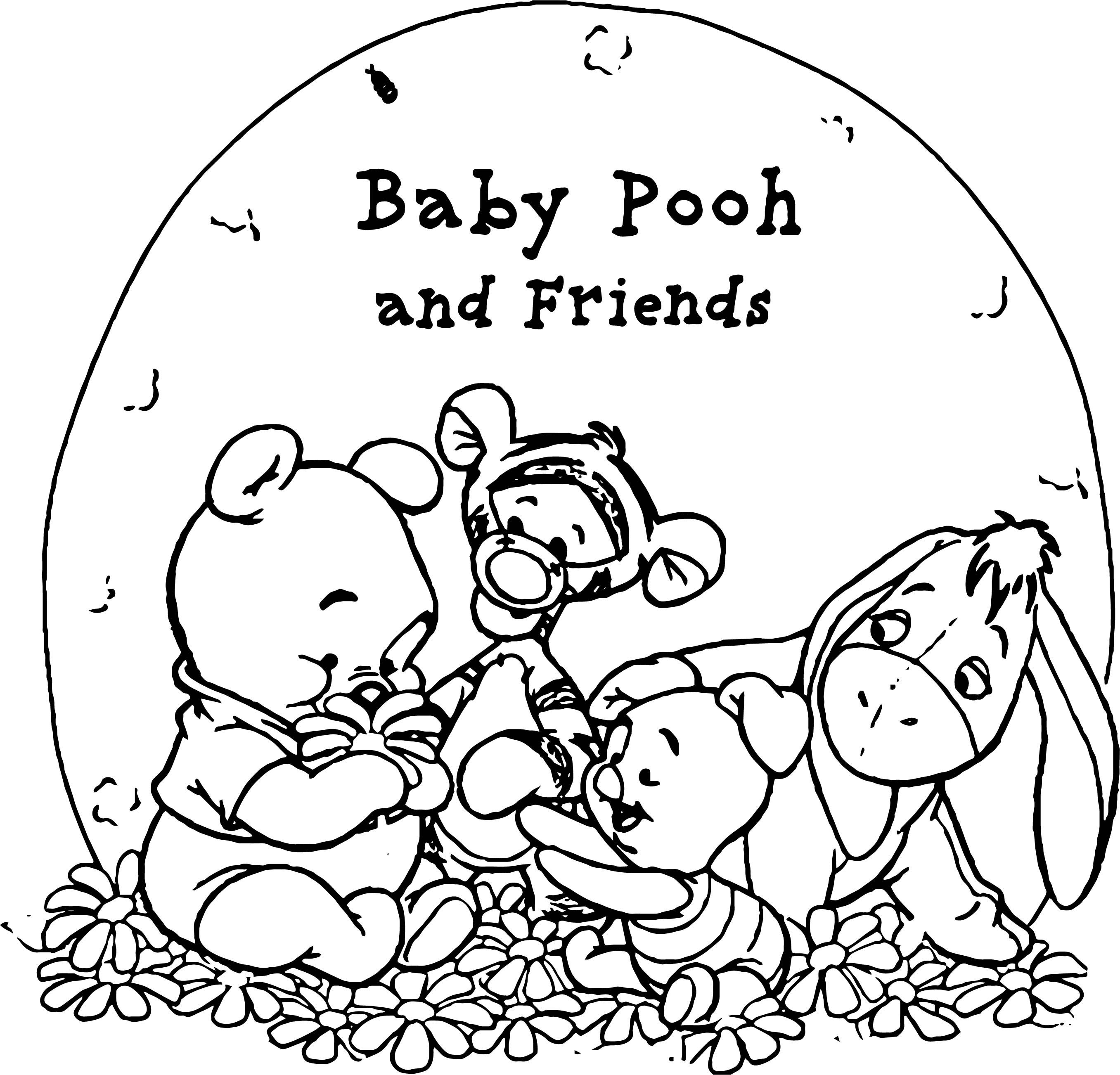 Awesome Pooh Wallpaper Baby Pooh And His Friends Coloring Page Coloring Pages Pooh Coloring Sheets For Kids
