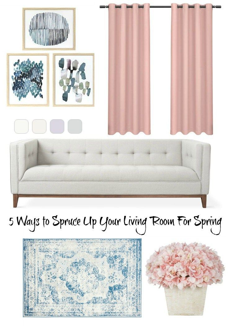 5 Beautiful Accent Wall Ideas To Spruce Up Your Home: 5 Ways To Spruce Up Your Living Room For Spring