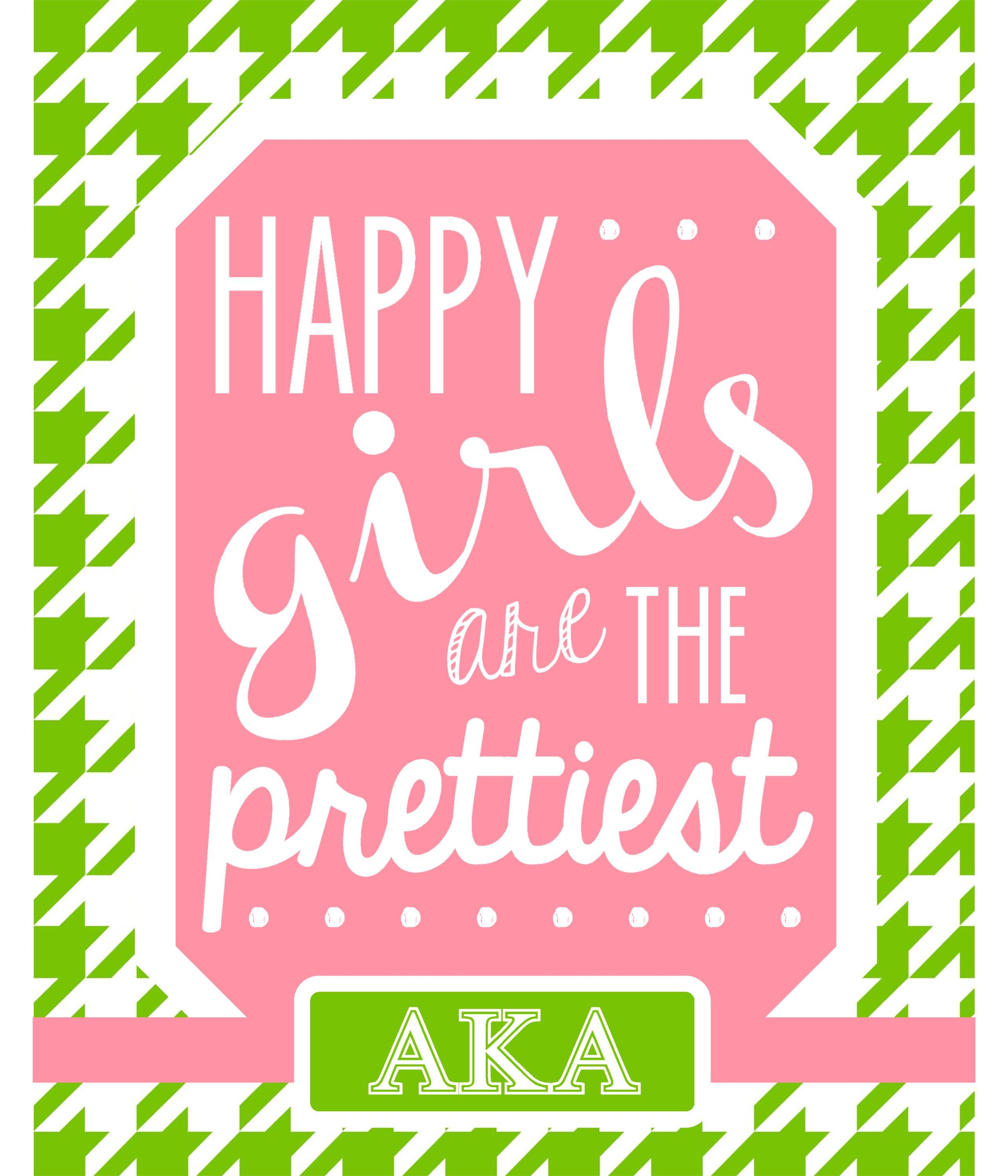 Happy Girls are the Prettiest - gift for sorority sisters ...