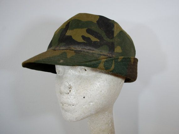Vintage JONES Hat Cap hunters camouflage Made by ilovevintagestuff cf2cdc53ab7