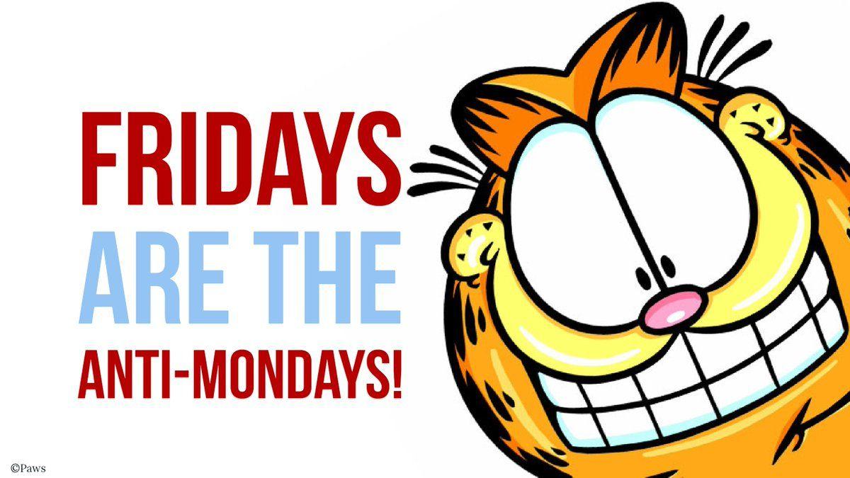 Garfield Friday Weekend Garfield Friday Feeling Funny Memes