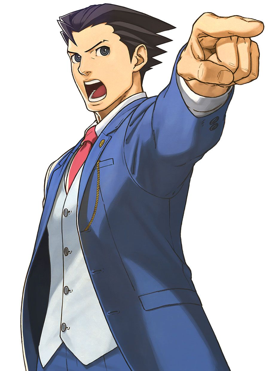 Phoenix Wright Objection Pose From Phoenix Wright Ace Attorney