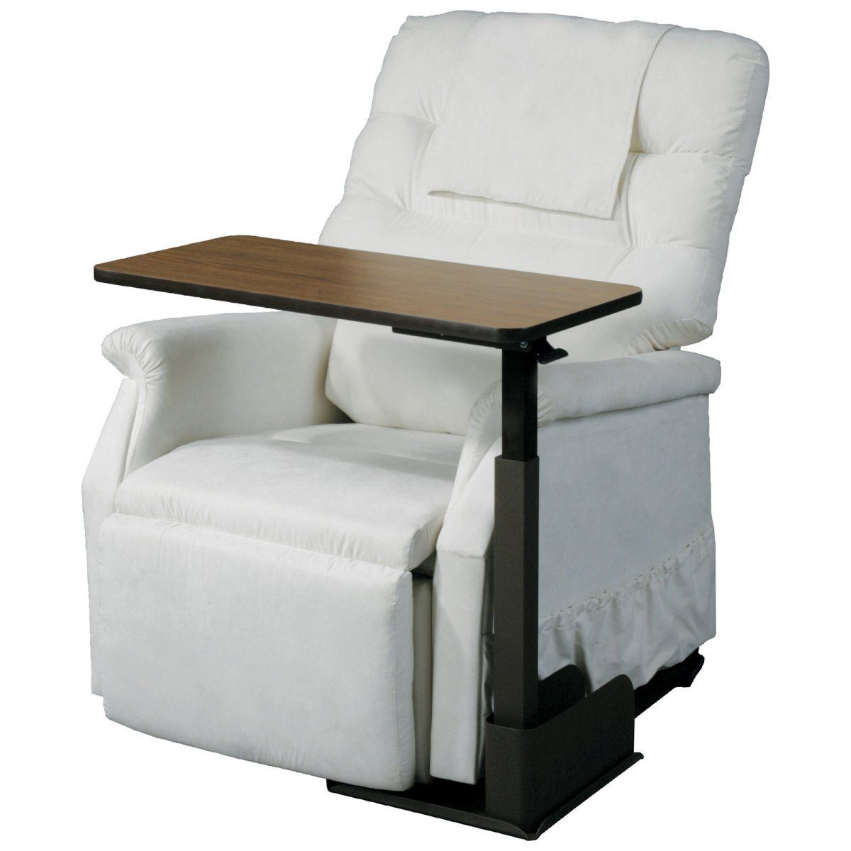 Lift chair table - Seat Life Chair Table The Handy Seat Life Chair Table Is Designed To Work With Lift Chairs But It Also Works Well With Standard Recliners Or Couches