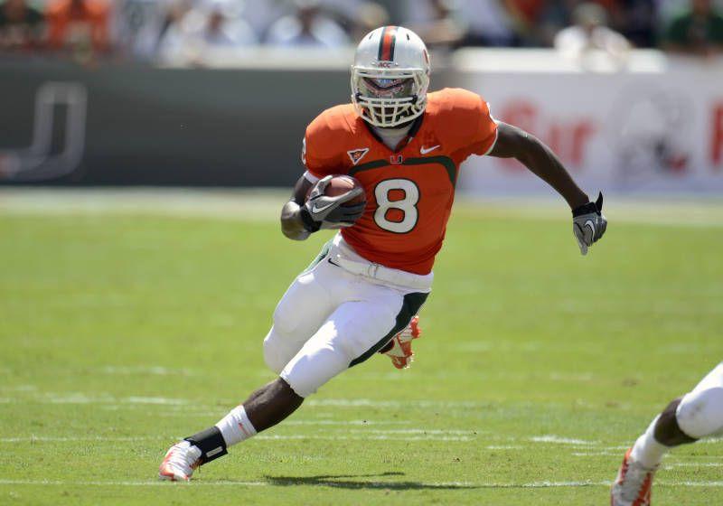 Duke johnson rb drafted 2015 football helmets miami