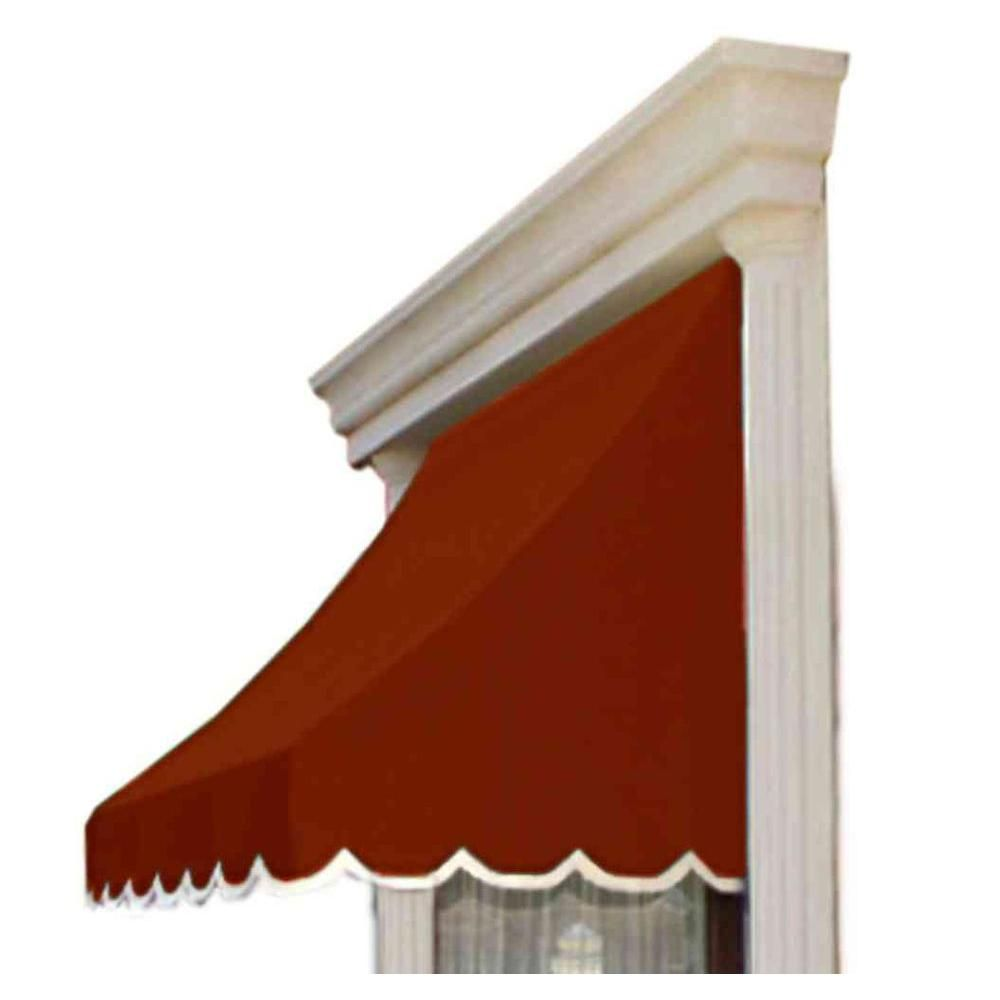 Awntech 10 Ft Nantucket Window Entry Awning 56 In H X 48 In D In Terra Cotta Orange Products Window Awnings Brick Siding Exterior Design