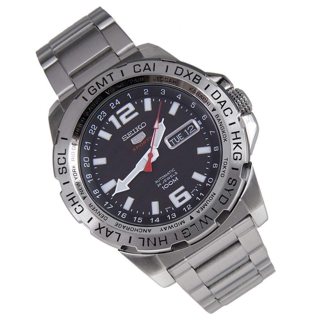 Seiko SRP683K1 Automatic 24 Jewels Mens Sports Watch