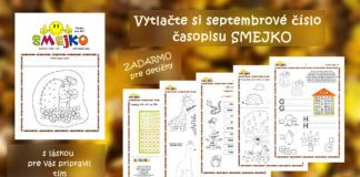 Časopis SMEJKO – septembrové číslo vás už čaká :)