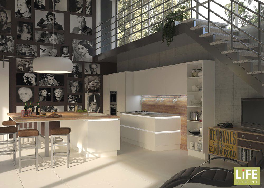 LiFE-Cucine-progetto-Led-isola-bianca-gola copia | Our home. Ideas ...
