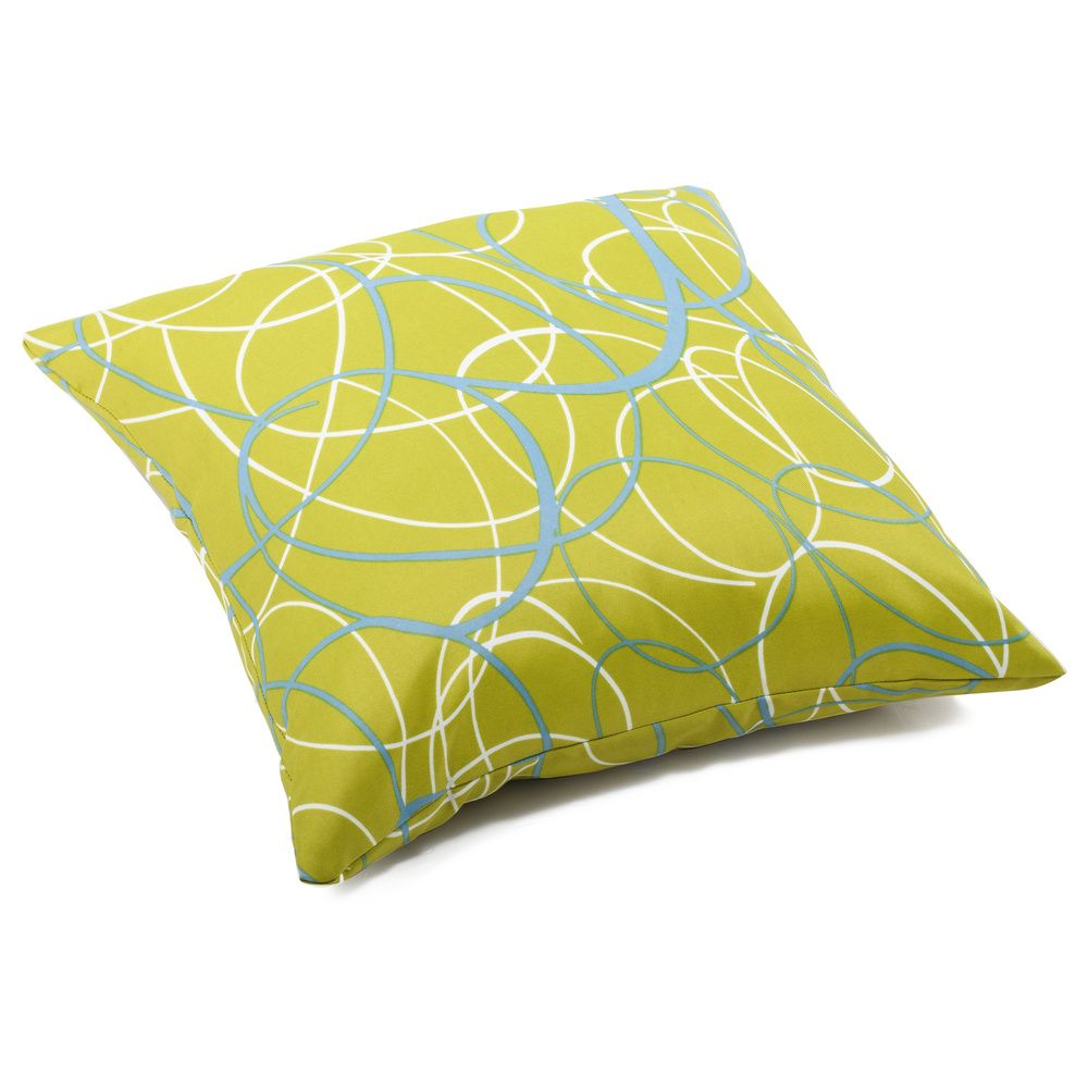 'Bunny' Olive Green Weather-resistant Throw Pillow | Overstock.com Shopping - Big Discounts on Outdoor Cushions & Pillows
