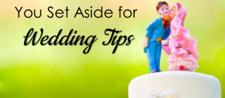 how much to set aside for wedding vendors