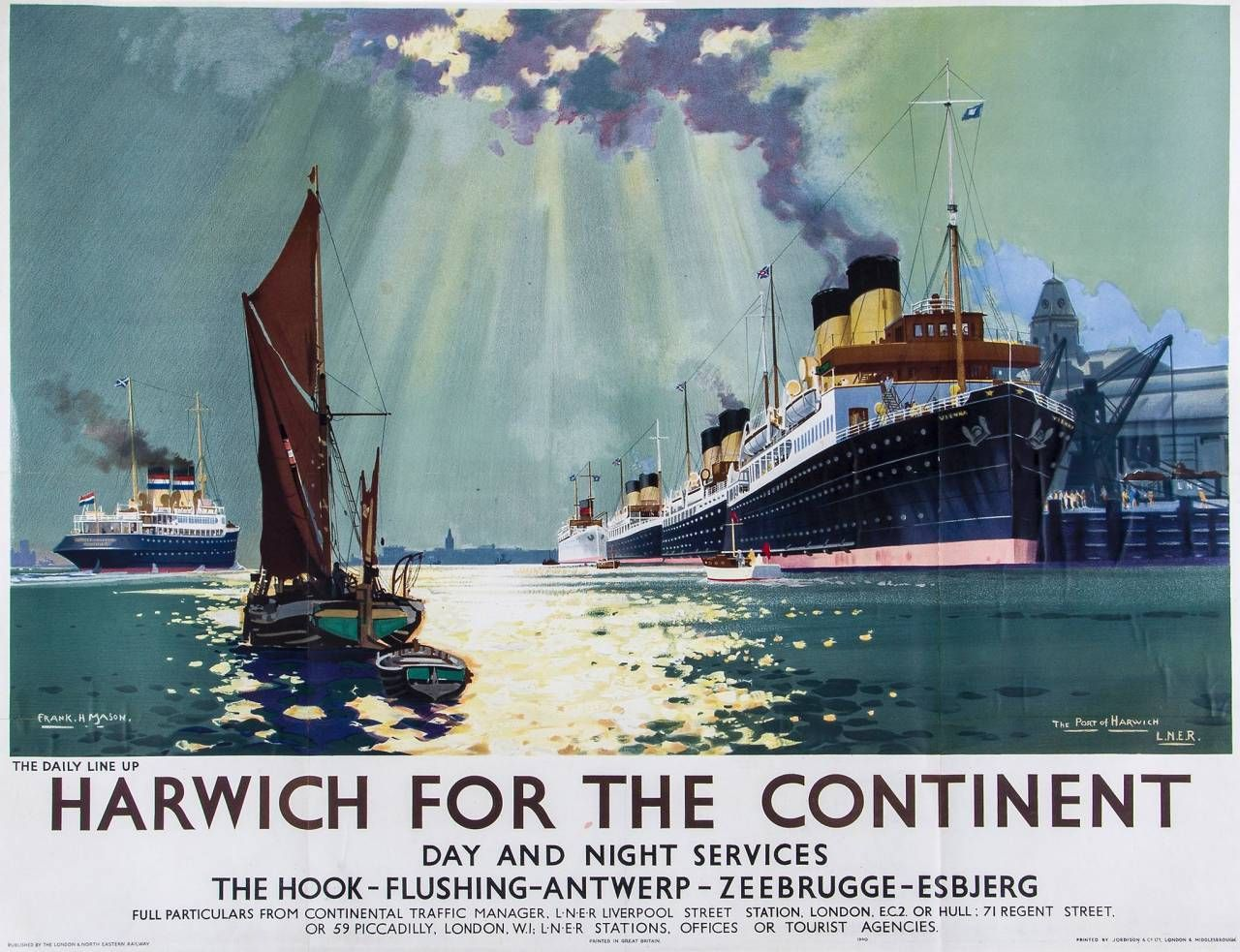 Beautiful Lner Posters Of The 1930s Flashbak Railway Posters Travel Posters Poster