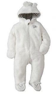 ea372dfcc56e NWT Carters Baby Unisex Clothes Outerwear Pram Snowsuit White Bear 3 ...