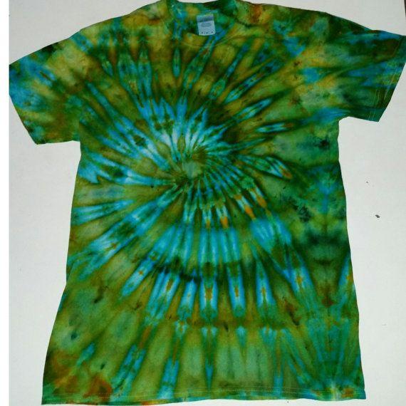 Handmade Spiral Tie Dye T-Shirt medium by Bobbyshippyshop on Etsy