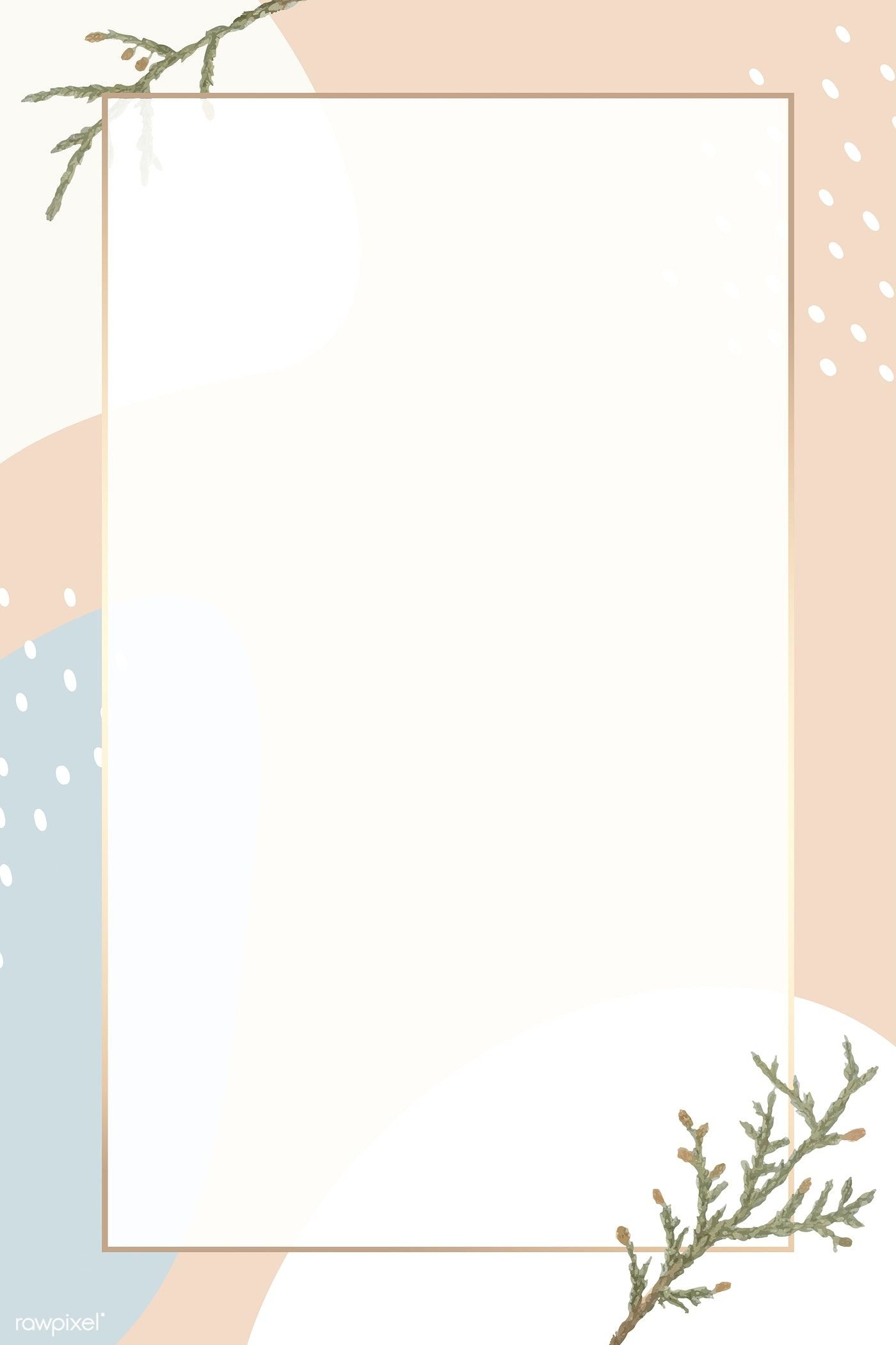 Download Premium Vector Of Rectangle Gold Frame On Minimal Patterned Powerpoint Background Design Minimalist Wallpaper Cute Pastel Wallpaper