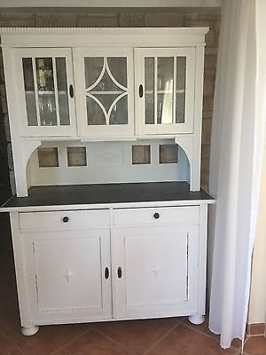 buffet shabby chic weiss k chenbuffet alt antik. Black Bedroom Furniture Sets. Home Design Ideas