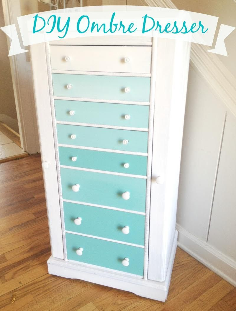 Diy Ombre Dresser Upcycled Home House Decor Style Best Of Divine