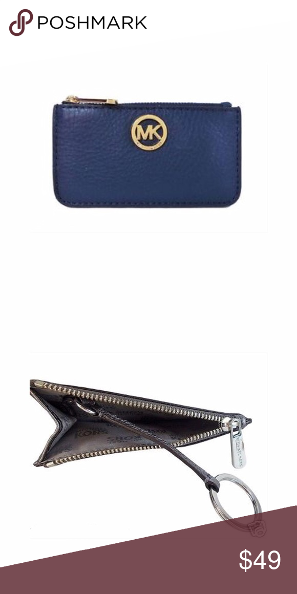 33ab9725a845 MICHAEL KORS Fulton Keychain Wallet NWOT. Authentic + never used. Key ring  still wrapped