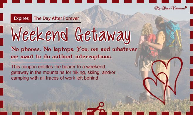 weekend getaway love coupons pinterest weekend getaways