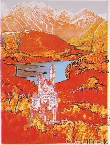 andy warhol neuschwanstein 1987 kunst pinterest acrylbilder. Black Bedroom Furniture Sets. Home Design Ideas