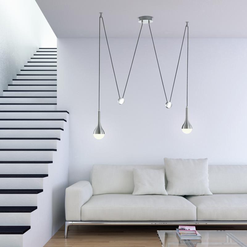 trio drops led pendelleuchte 2 flammig affenschaukel lighting pinterest led pendelleuchte. Black Bedroom Furniture Sets. Home Design Ideas