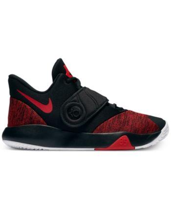reputable site ff506 00de6 Nike Boys  Kd Trey 5 Vi Basketball Sneakers from Finish Line - Black 5.5