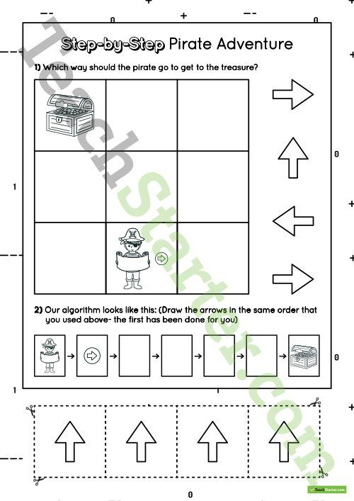 Step by Step Introductory Worksheet for Algorithms - Pirate ...