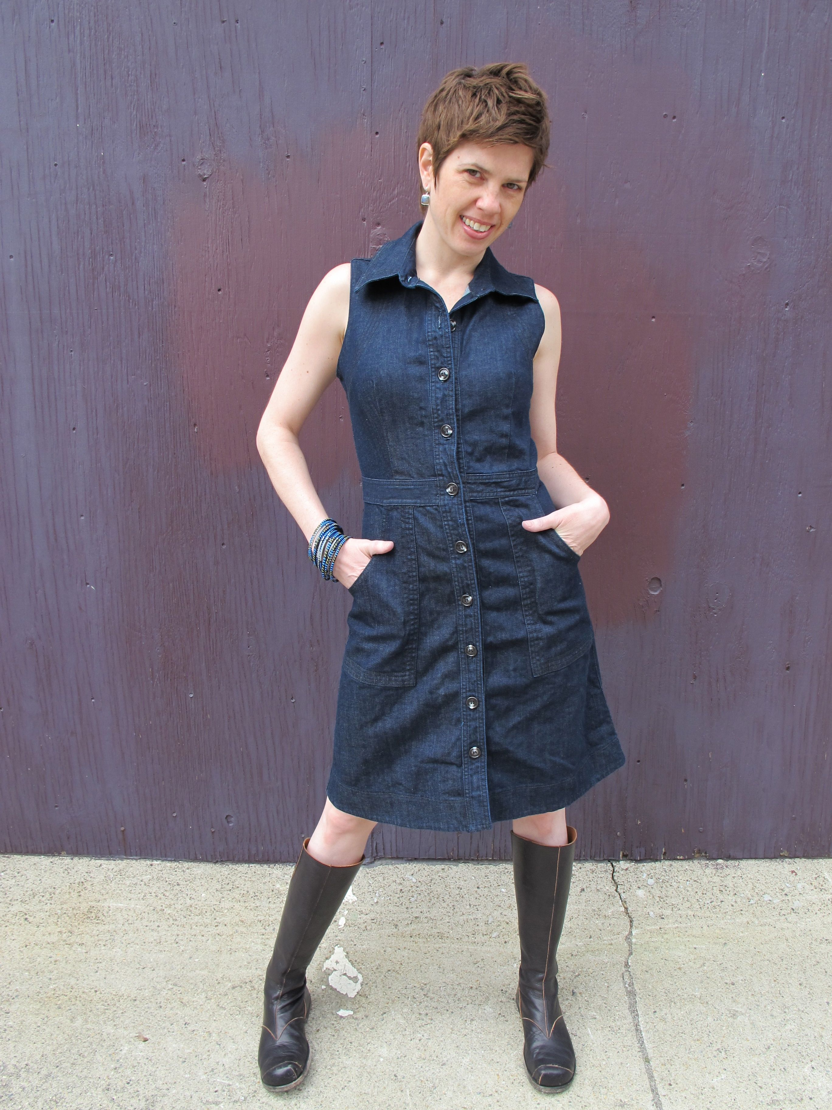 b300e3001d Here s one of my old friends Jenna modeling a Prairie Underground Draper  Jean dress and Cydwoq boots