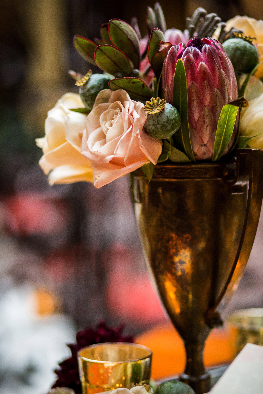 Flower arrangement at Hotel Mazarin www.hotelmazarin.com