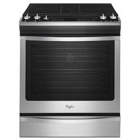whirlpool gold smooth surface ft slidein convection electric range stainless steel common actual