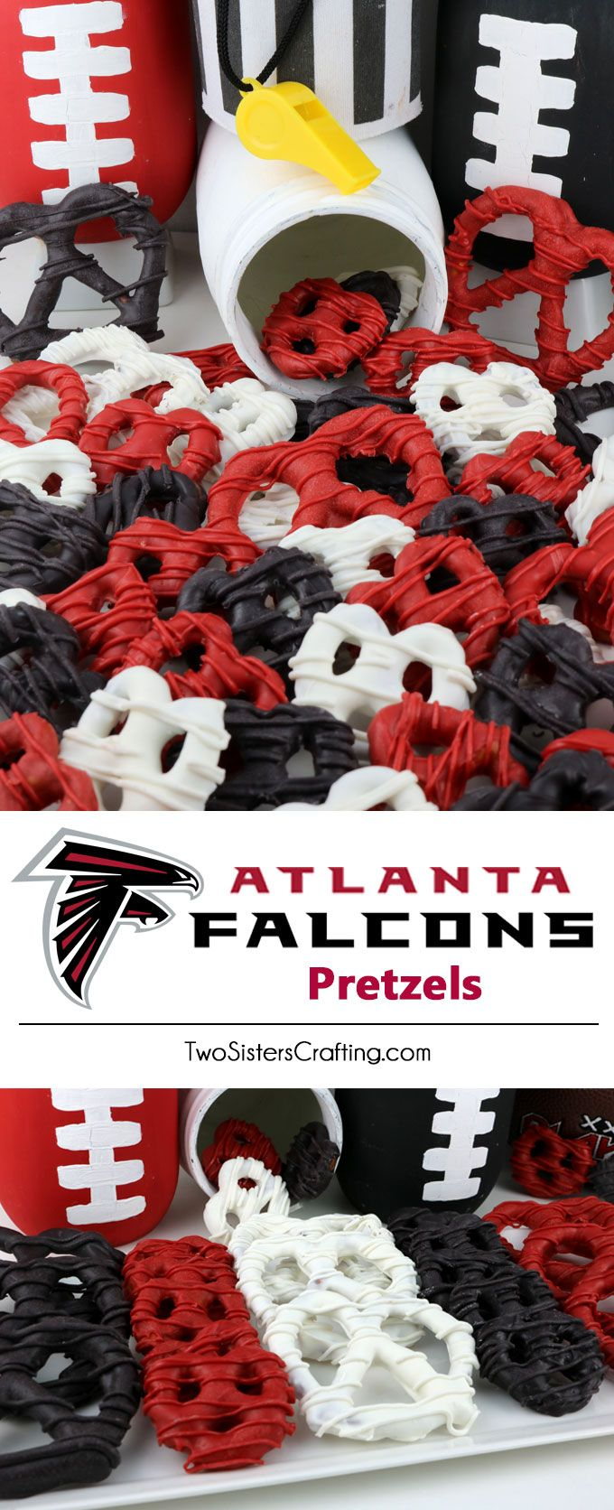 Atlanta Falcons Pretzels Yummy Bites Of Sweet And Salty Football Game Day Goodness That Super Bowl Food Superbowl Desserts Healthy Superbowl Snacks