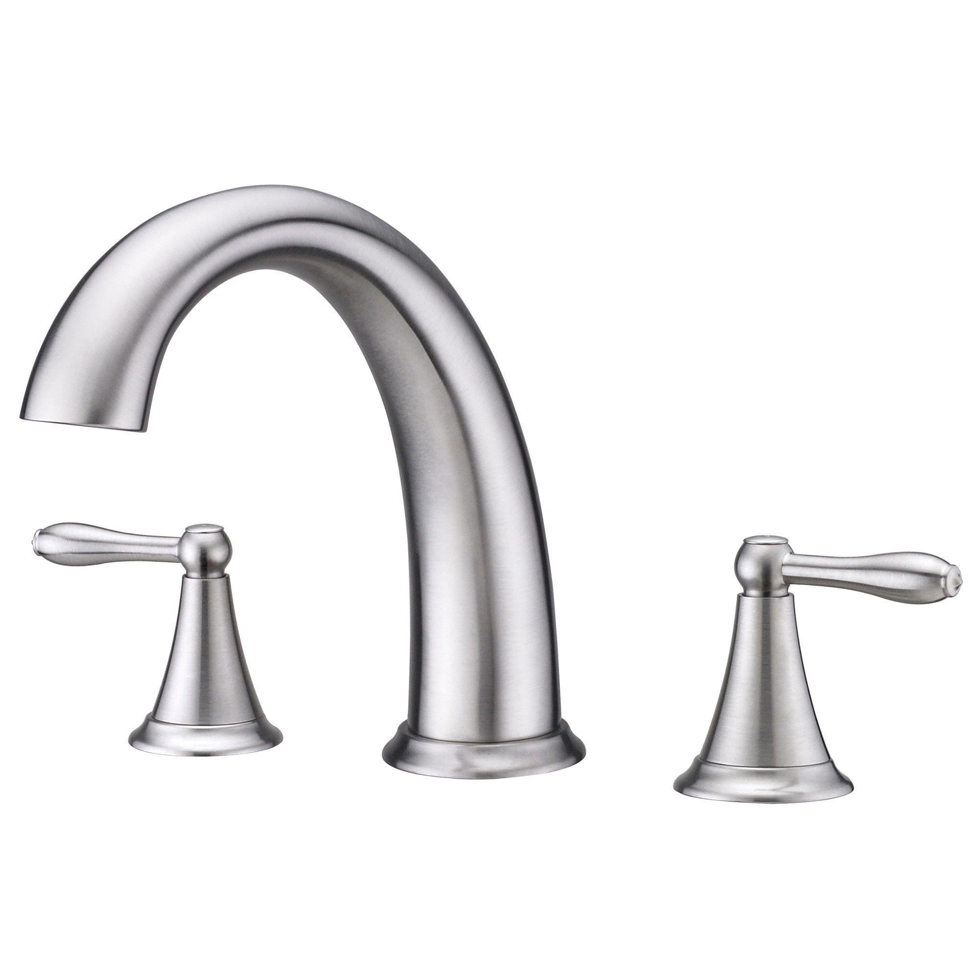 New Delta Porter Roman Tub Faucet Brushed Nickel | Brushed nickel ...