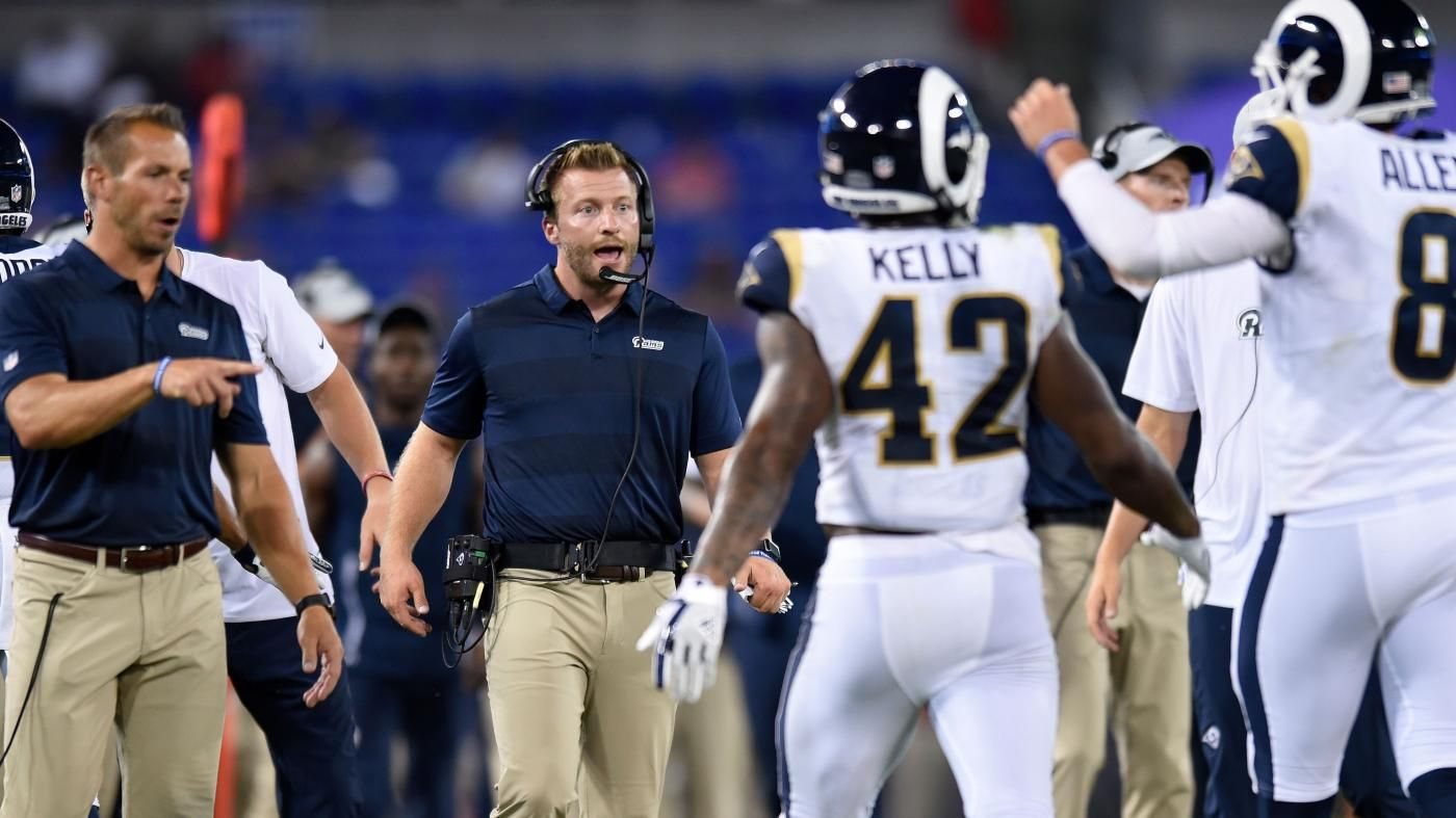 Super Bowl 2019 Rams Coach Sean Mcvay Didn T Have His Get Back Coach Quartz Ted Rath S Official Title On T Strength And Conditioning Coach Sean Mcvay Coach