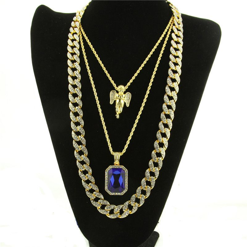 piece chain micro gun necklace metal jesus franco jewelry back chains necklaces