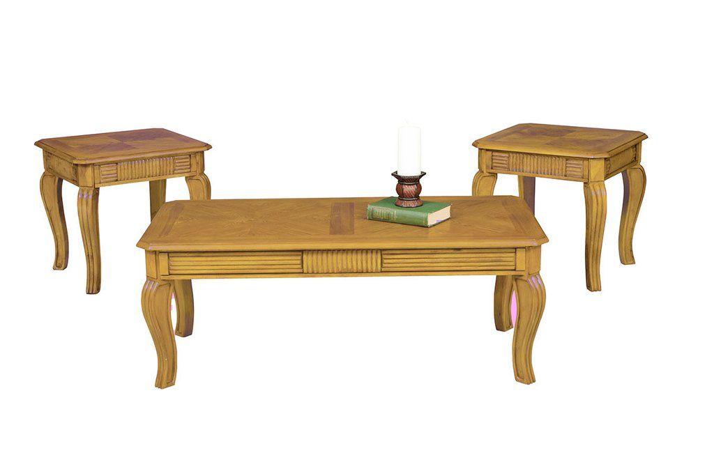 Oak Sunburst Coffee Table Set by Serta Upholstery – My Furniture Place