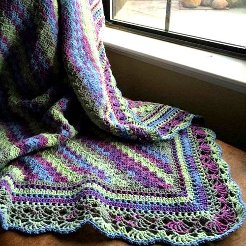 C2c Blanket With Fabulous Edge Tutorial Crochet For Children