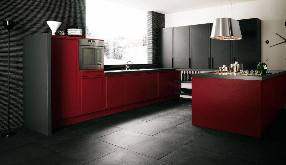 Interior Kitchen Dashing Red Kitchen Cabinets Hot Design And Fixtures Sweet Modern Apartm Modern Kitchen Apartment Kitchen Accessories Design Stylish Kitchen
