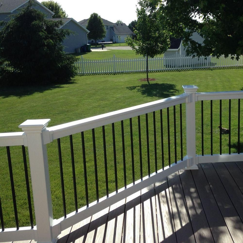 Best Weatherables Bellaire 3 Ft H X 8 Ft W White Vinyl Railing Kit Wwr Thdba36 S8 Vinyl Railing 400 x 300