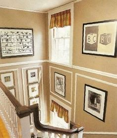 Another Pinner Said: An Interesting Way To Solve Tall Wall Decorating  Problems.