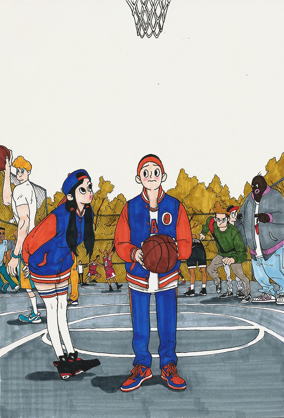 Basketball boy & girl - Kim Jungyoun | Arts | Illustration ...