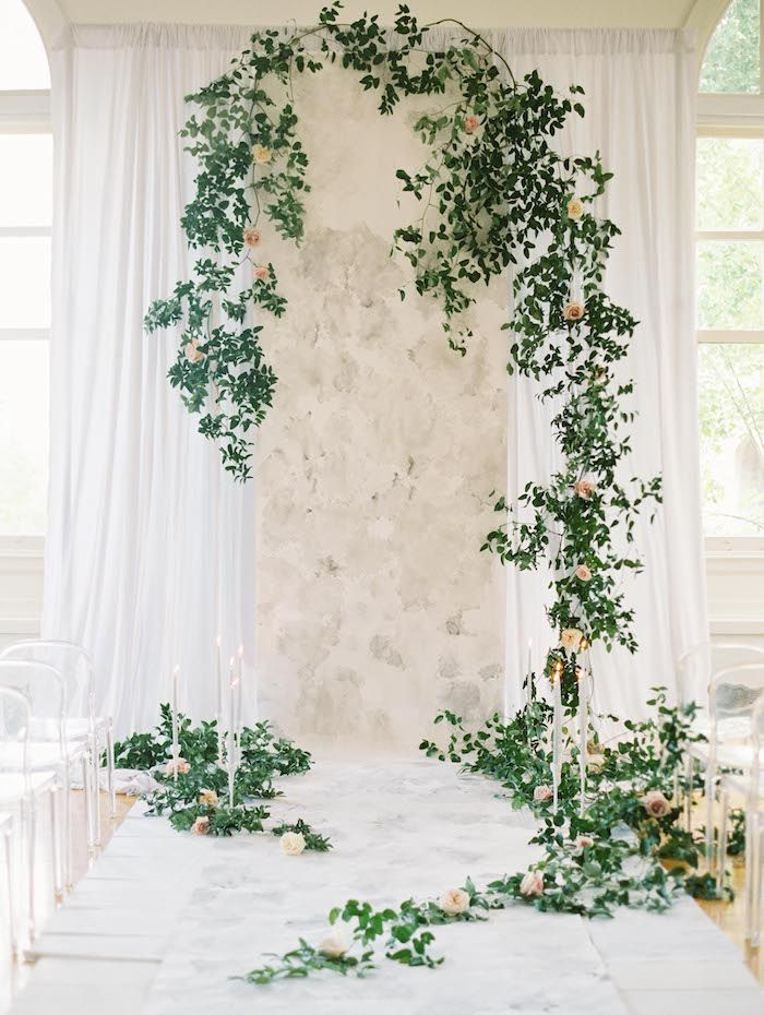 Elegant Garden-Inspired Indoor Wedding Ideas  - Once Wed