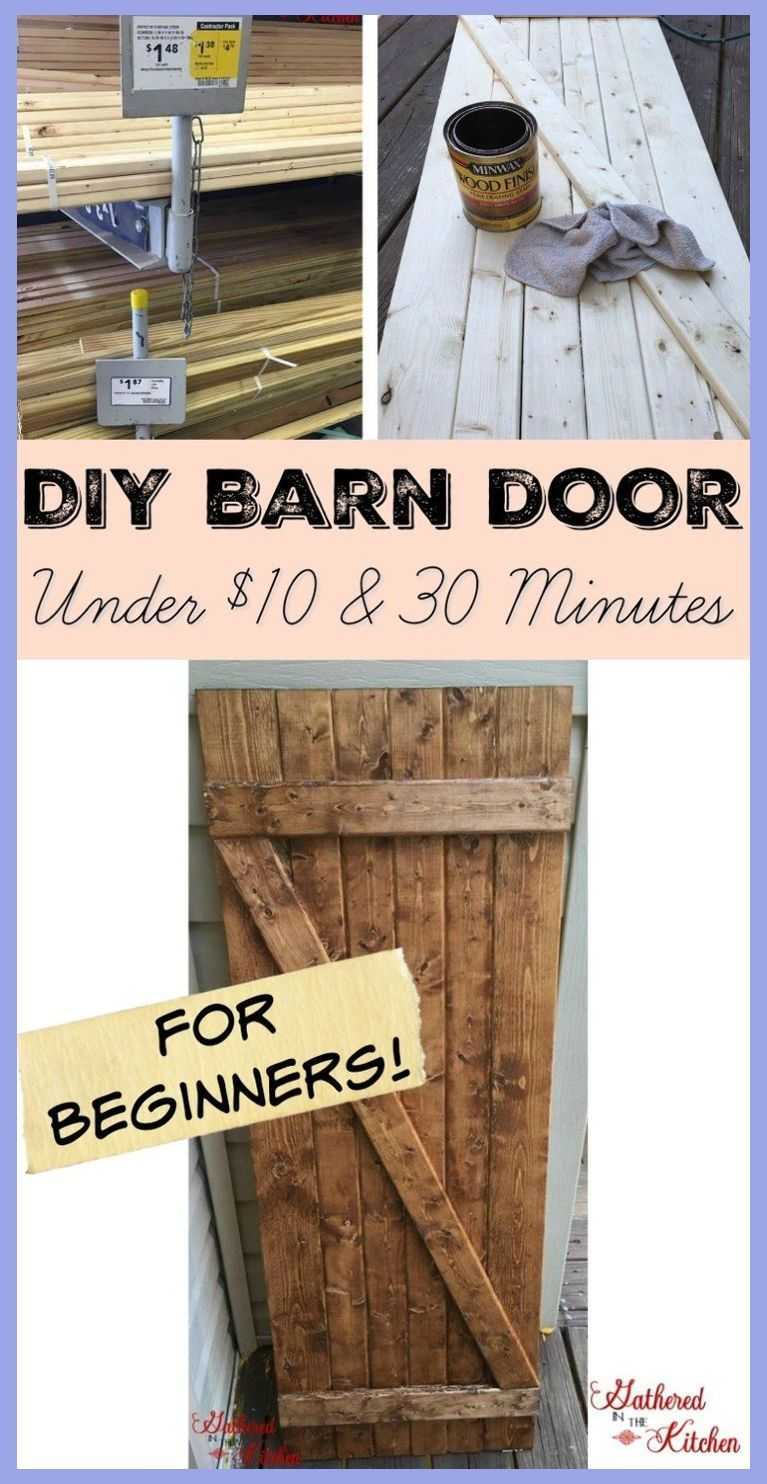 Easy Woodworking Kids Diy Barn Door Under 10 In 30 Minutes Wood Projects For Kids Scra In 2020 Diy Schuurdeur Diys Schuurdeur
