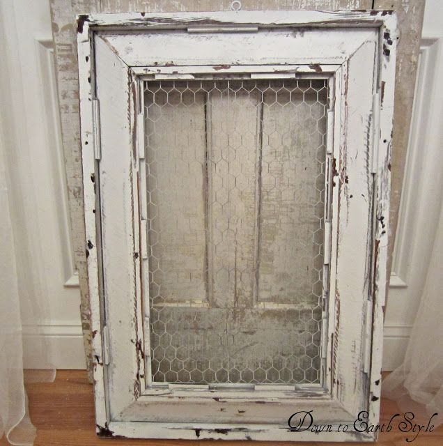 how to make rustic chicken wire cabinet doors  distress using vaseline and spray  paint  This works so well  Gives the perfect finish. how to distress using vaseline and spray paint    This works so