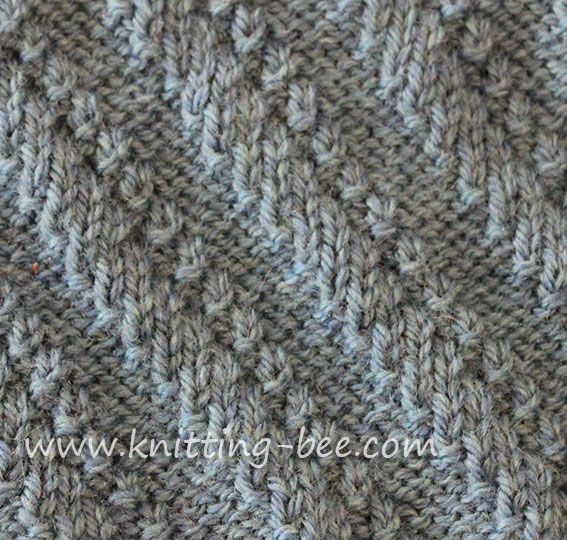 Free knitting pattern. horizontal-lines-knitting-pattern-stitch. This would b...