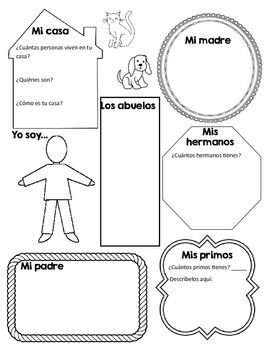 mi familia graphic organizer graphic organizers textbook and  mi familia graphic organizer