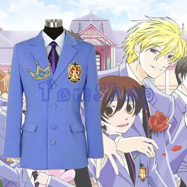 Anime Ouran High School Host Club Blazer Jacket Unisex Cosplay Coat Halloween Costumes Custom made Any Sizes Free Shipping-in Clothing from Novelty & Special Use on Aliexpress.com | Alibaba Group